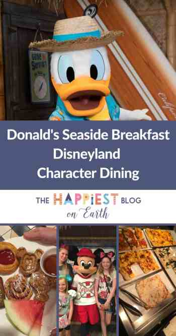 Donald Duck's Seaside Breakfast at Disneyland