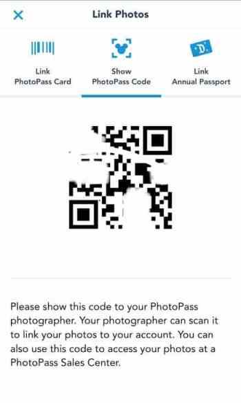 Best Disneyland PhotoPass Spot QR Code