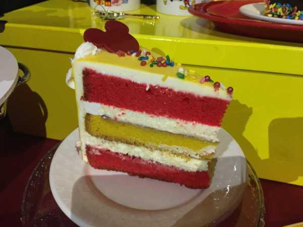 Celebration Cake with raspberry and lemon flavors at Plaza Inn