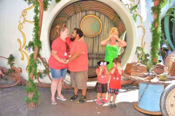 Disneyland proposal with Tinker Bell