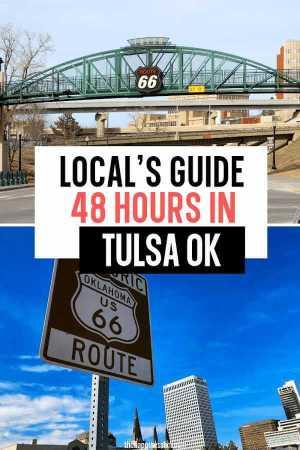 tulsa route 66 sign and historic bridge