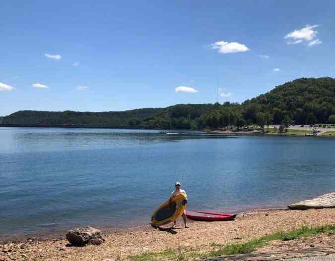 stand-up-paddle-boarding-beaver-lake-arkansas