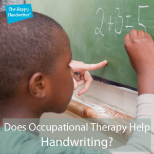 does occupational therapy help with handwriting