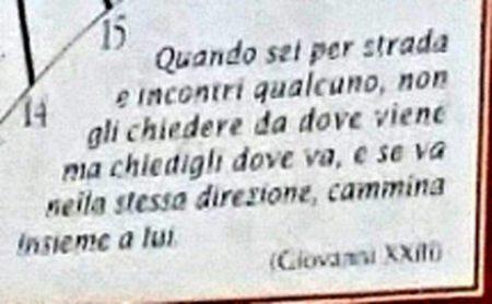 the happy housesitter blog - Pope John XXIII quotation - Servigliano church