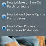 How To Fix Holes In Blue Jeans The Happy Housewife Home Management