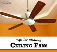 How to Clean a Ceiling Fan - The Happy Housewife :: Home ...