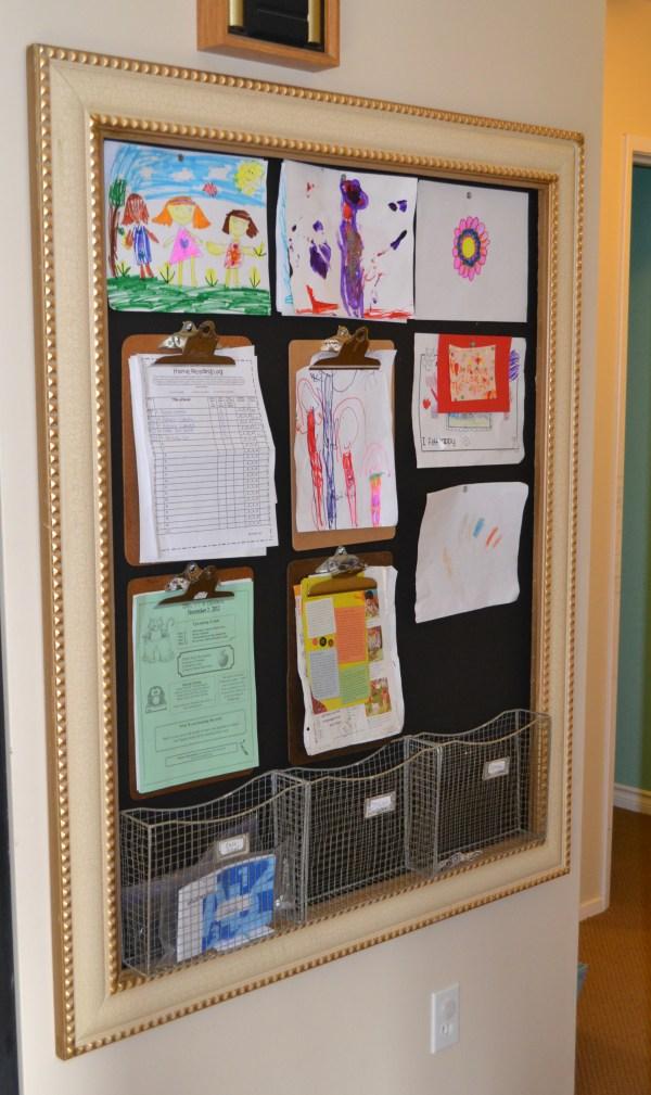 Organizing Kids School Artwork