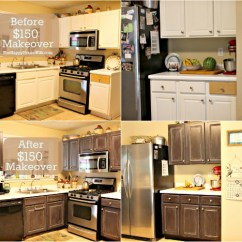 Kitchen Make Over Island Prep Table Frugal Cabinet Makeover The Happy Housewife Home At