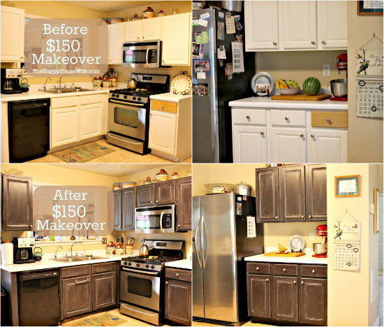 Frugal Kitchen Cabinet Makeover Happy Housewife Home