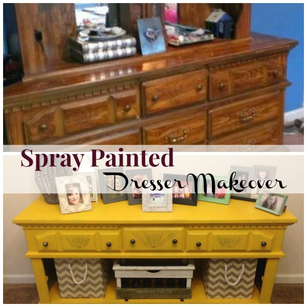 Spray Painted Dresser Makeover - Happy Housewife