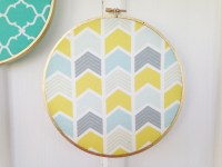 Boho Fabric Wall Art - The Happy Housewife :: Home Management