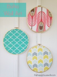 Boho Fabric Wall Art