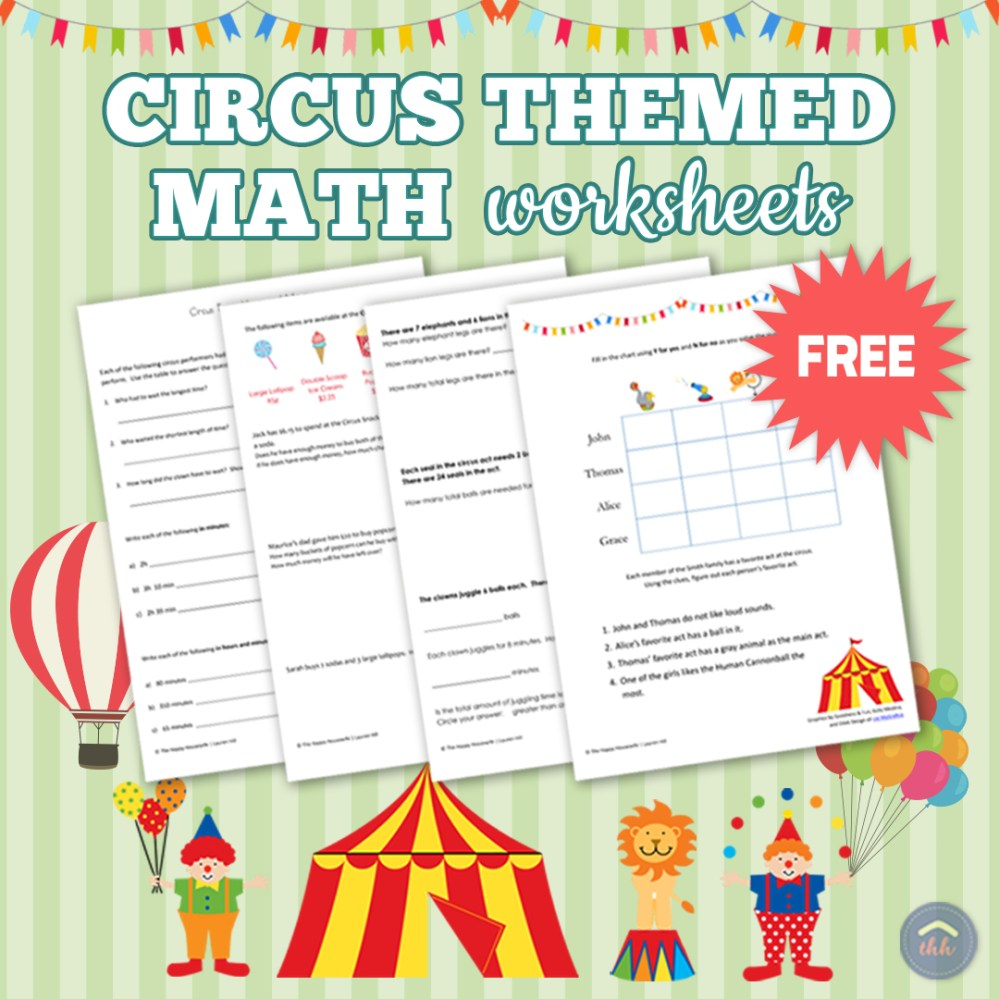 medium resolution of Circus-Themed Math Worksheets: Free Printables - The Happy Housewife™ ::  Home Schooling