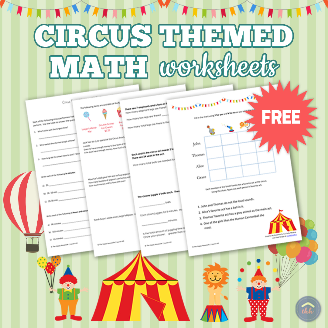 hight resolution of Circus-Themed Math Worksheets: Free Printables - The Happy Housewife™ ::  Home Schooling