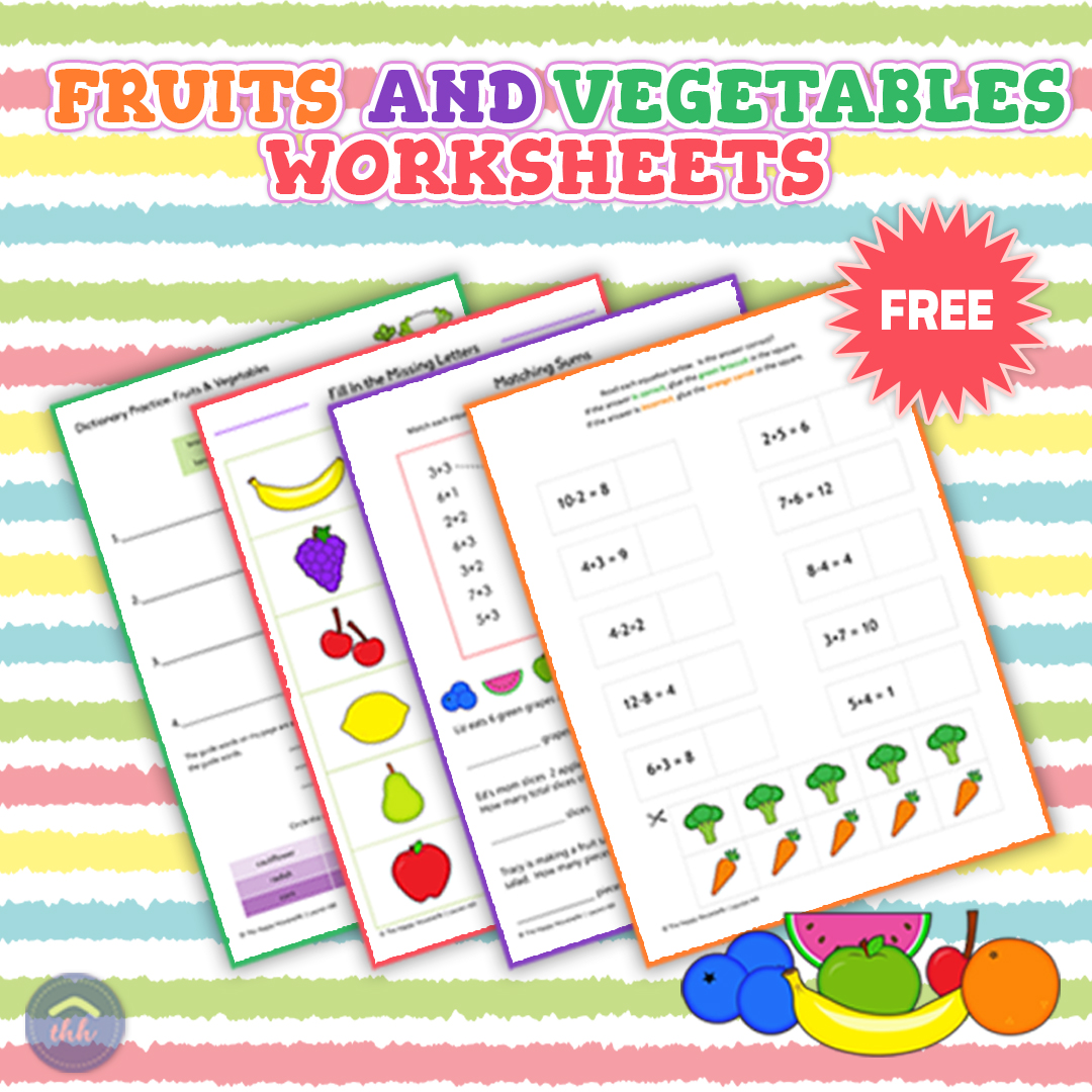 Fruits And Vegetables Worksheets Free Printables