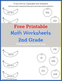 Math Worksheets for 2nd Grade: Free Printables - The Happy ...
