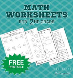 Math Worksheets for 2nd Grade: Free Printables - The Happy Housewife™ ::  Home Schooling [ 1080 x 1080 Pixel ]