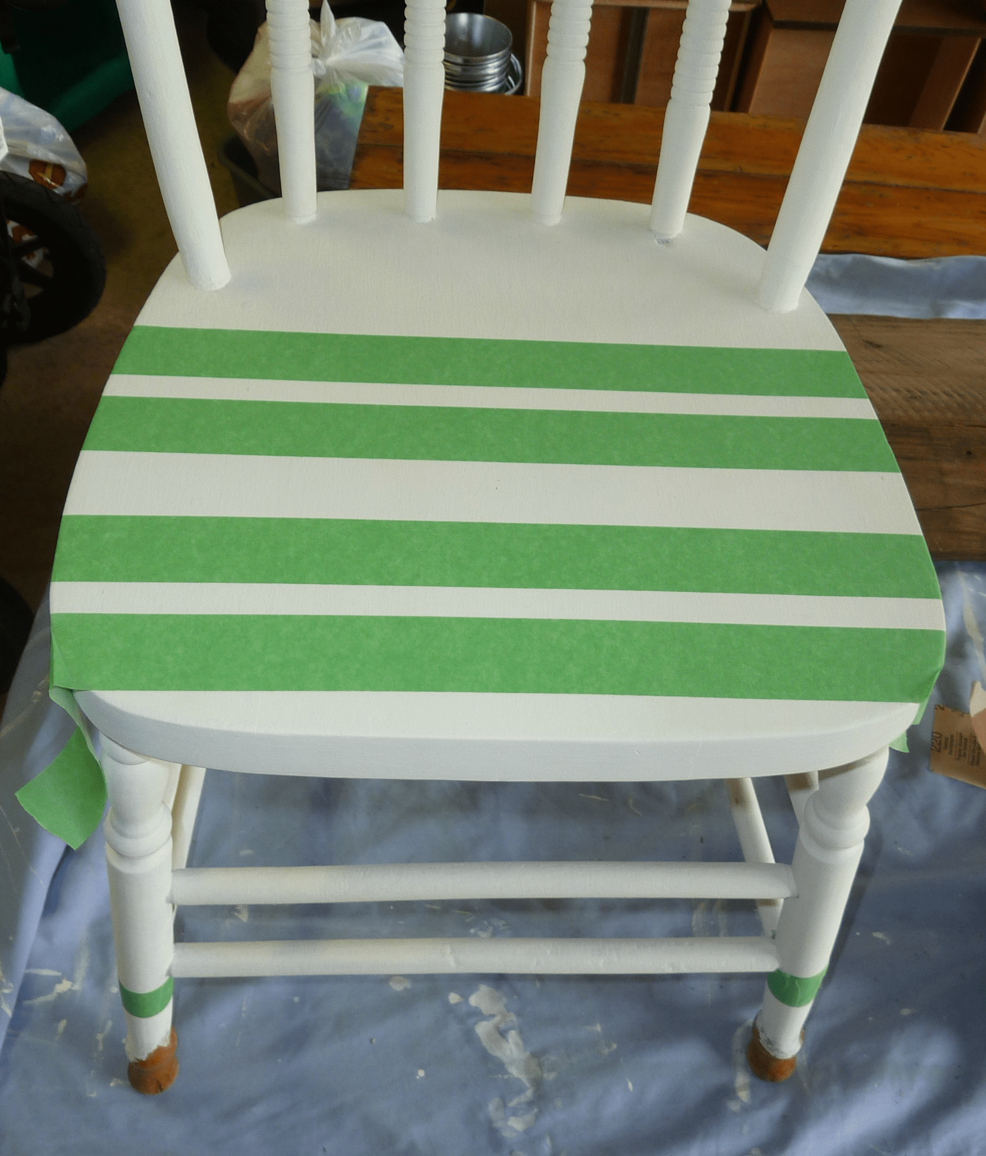 diy painted windsor chairs set of two dining a dipped 39n 39 striped chalk and craft paint