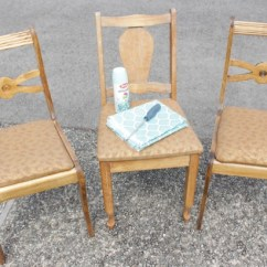 Indoor Outdoor Chairs Rocking Chair Cushions Kohls How To Turn Thrift Store Finds Into An Dining Set The At Happy Housie Before