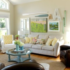 Lake House Living Room Ideas Accent Chairs For Cottage Late Summer Beachy Decor Tour Style At The Happy Housie 1