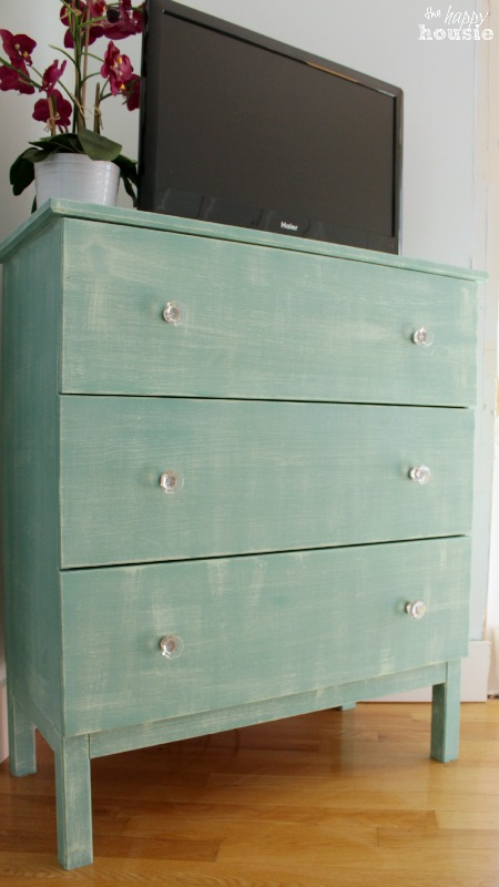 Ikea Hack Tarva Dresser with Faux Painted Linen Texture  The Happy Housie