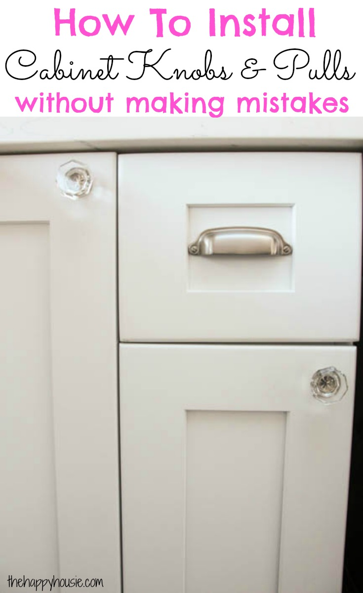 How To Install Cabinet Knobs With A Template A Trick For Avoiding