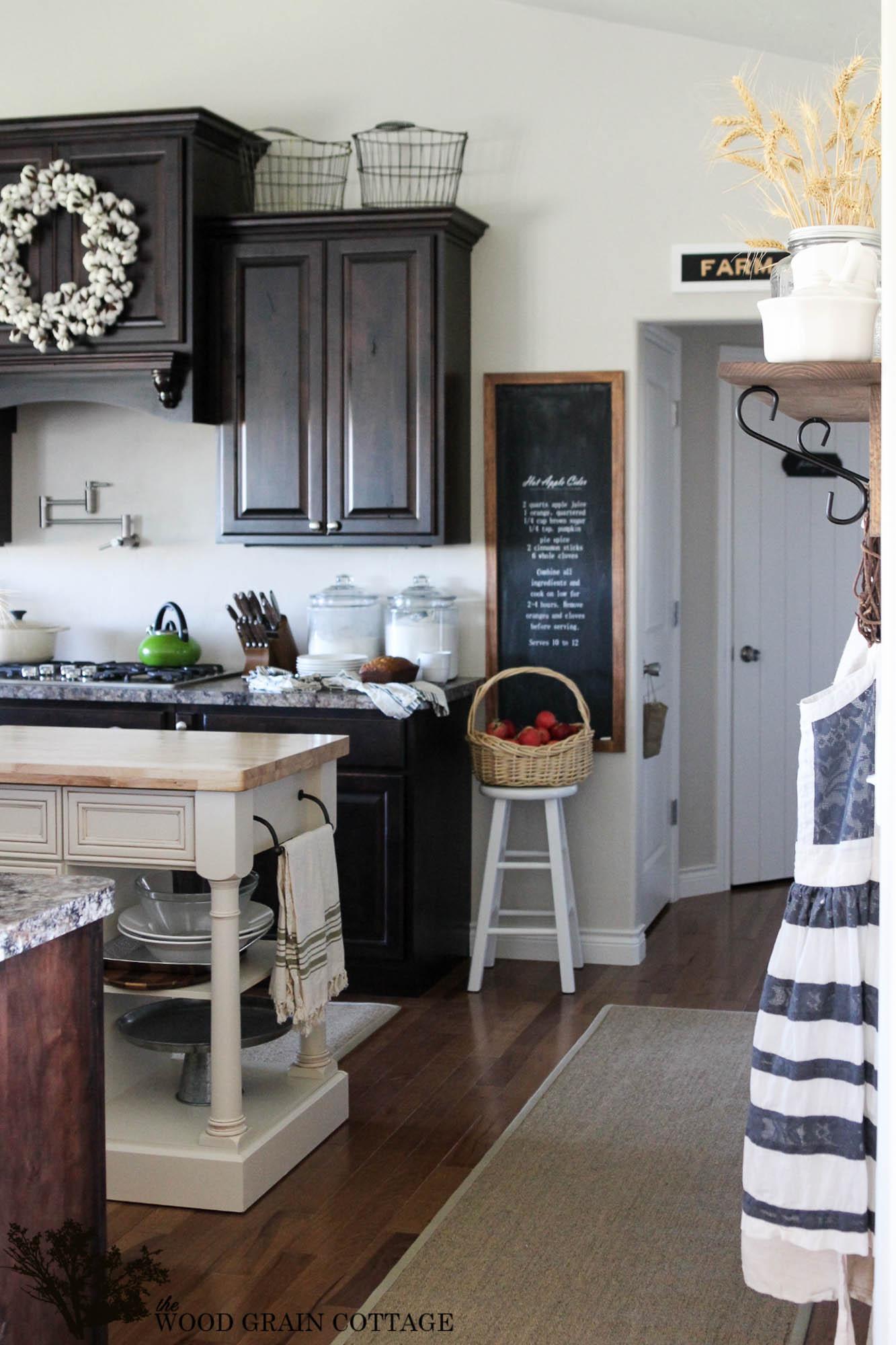 Stunning Cottage Kitchen {the Wood Grain Cottage}  The