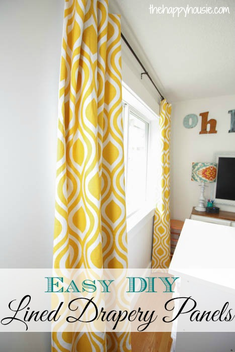 How To Make Your Own DIY Grommet Topped Blackout Drapes The