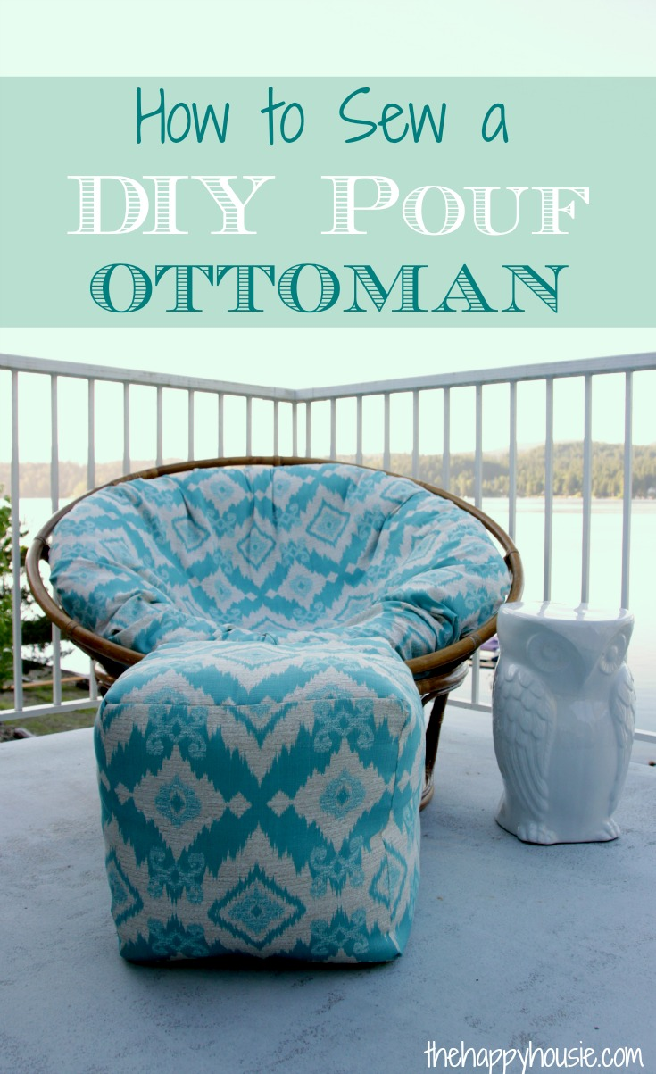 How to Sew a DIY Pouf Ottoman Indoor or Outdoor  The