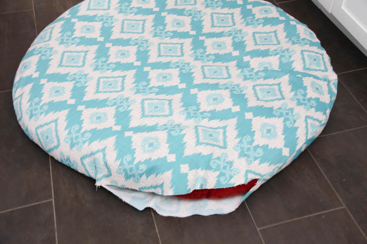 sewing patterns for chair cushions childrens tables and sets how to sew a diy papasan cover the happy housie recover cushion tutorial at thehappyhousie