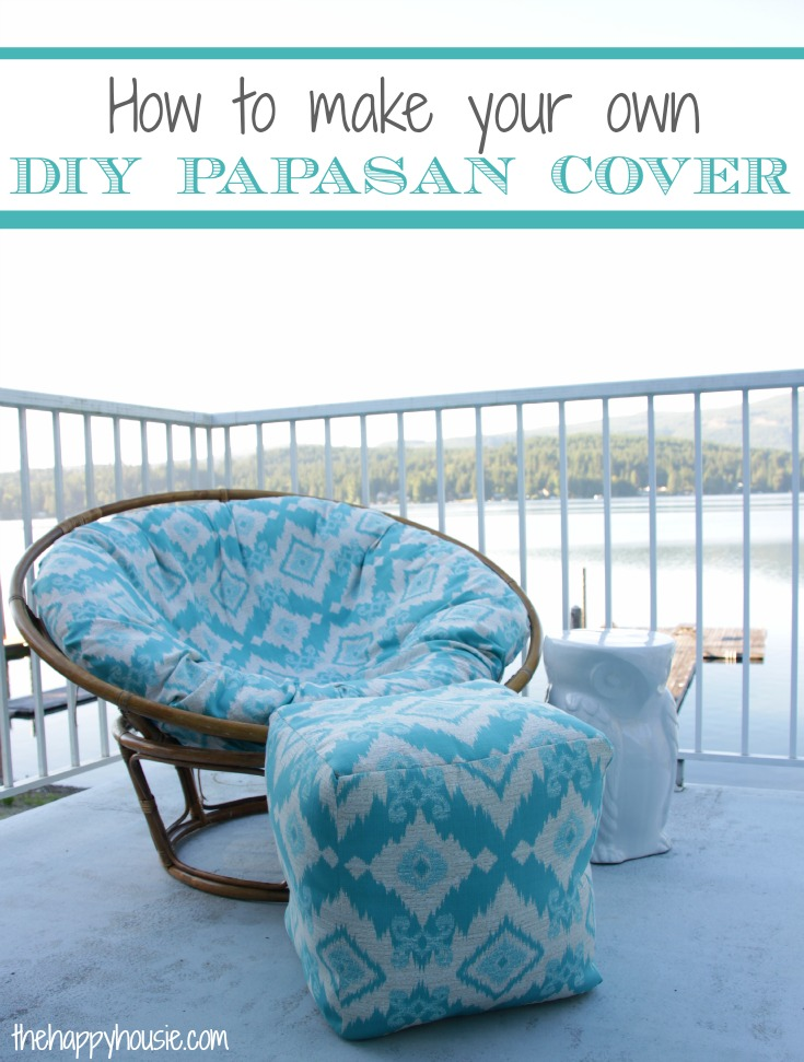 chair covers make your own dining chairs contemporary how to sew a diy papasan cover the happy housie full easy tutorial at thehappyhousie com