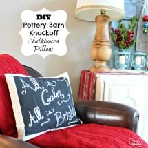 DIY Pottery Barn Christmas Pillow