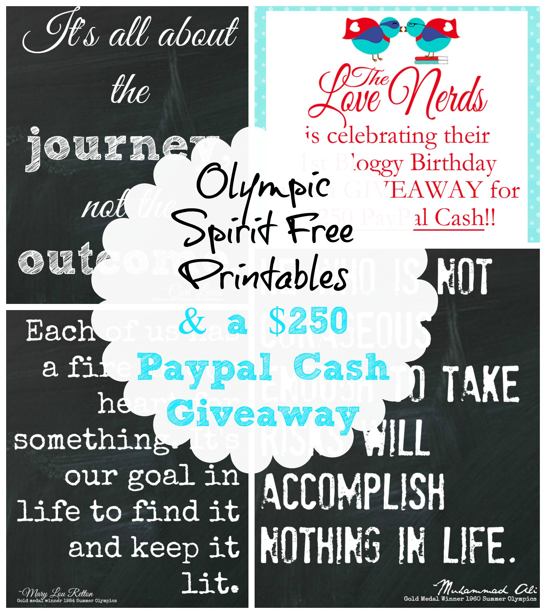 Olympic Spirit Printables Amp 250 Paypal Cash Giveaway