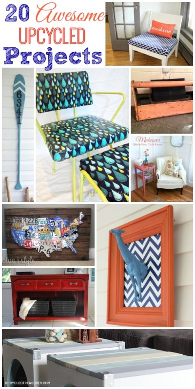 20 Awesome Upcycled Projects - The Happy Housie