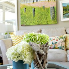 Living Room Decor Turquoise Simple Wooden Furniture Designs For 2 Lake Cottage Late Summer Beachy House Tour