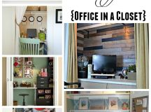 Get Organized in a Small Space with a Cloffice {Office ...