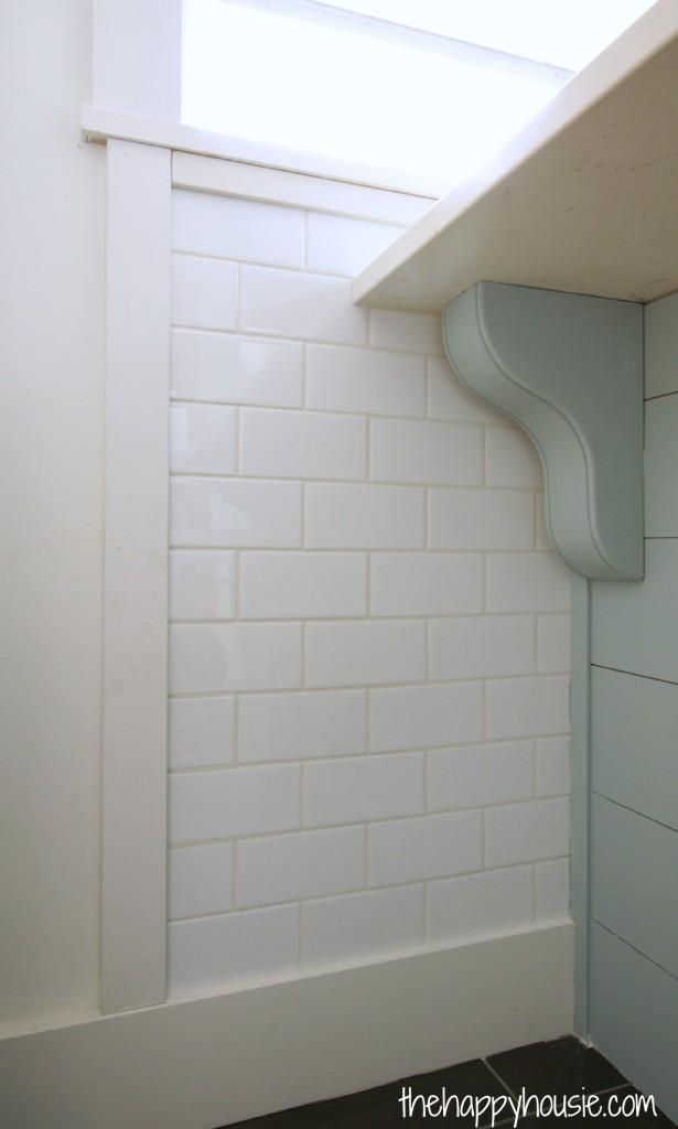 installing classic white subway tile