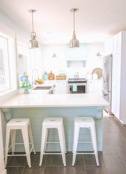 coastal style kitchen Our Coastal Style White Shaker Kitchen Makeover {the