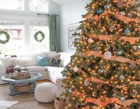 Our Rustic Natural & Blue Lake Cottage Coastal Christmas ...
