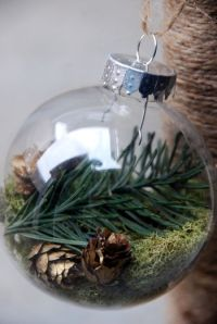 20 Elegantly Adorable Ways to Fill Clear Ornaments | The ...