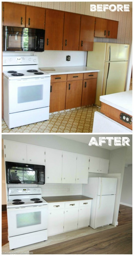 Super Thrifty Budget White Kitchen Makeover Reveal  The