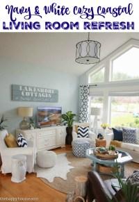 Navy White Living Room