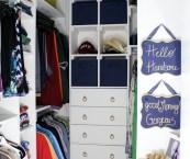 organizing small walk in closet