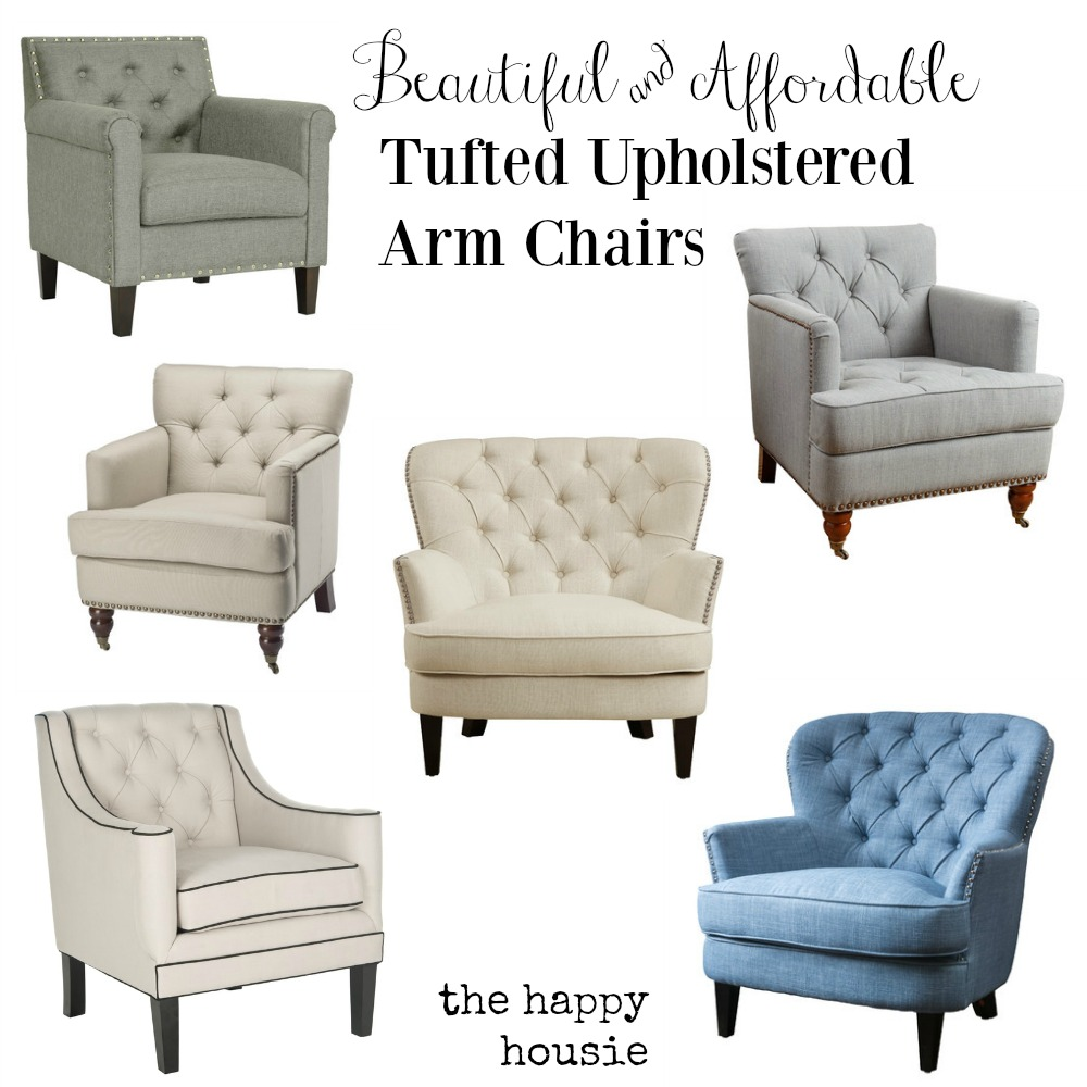 Upholstered Arm Chairs Friday S Finds Beautiful Affordable Tufted Upholstered Arm
