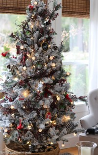 Cabin Chic Winter Woodland Christmas Tree Style - The ...