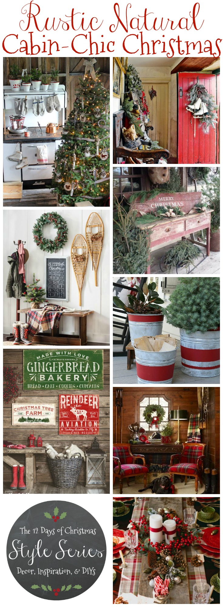 Rustic Merry Christmas Signs Rustic Natural Cabin-chic Christmas Style Series - The