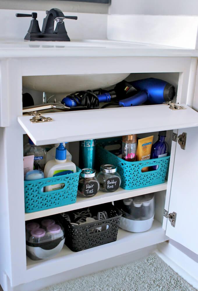 bathroom organization storage