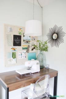 Creative Thrifty & Small Space Craft Room Organization