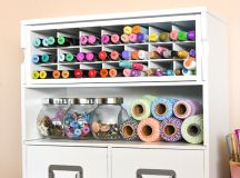 Creative, Thrifty, & Small Space Craft Room Organization ...