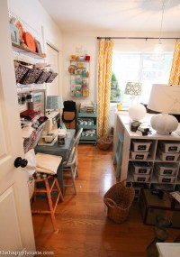 How to Organize a Craft Room Work Space - The Happy Housie